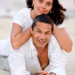 Happy beach couple — Stock Photo