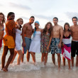 Friends at the beach — Stock Photo #7701032