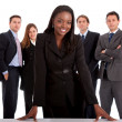 Business woman and her team - Foto Stock