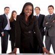Business womand her team — Stock Photo #7701208