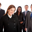 Business woman and her team — Stock Photo #7701210