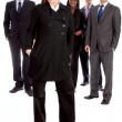 Business woman and her team — Stock Photo #7701215
