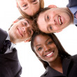Business team - heads together — Stock Photo #7701222