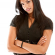 Arms crossed businesswoman - Stock Photo