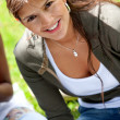 Student outdoors — Stock Photo #7701253