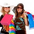Friends shopping — Stockfoto
