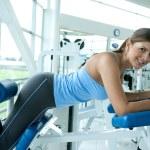 Beautiful woman exercising — Stock Photo #7701277