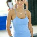 Gym female portrait — Stock Photo #7701284