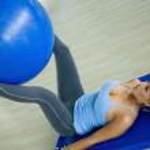 Gym woman doing pilates — Stock Photo #7701292
