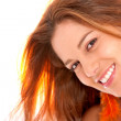 Casual woman smiling — Stock Photo