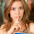 Stock Photo: Keep it quiet