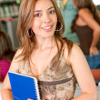 Stock Photo: Library student