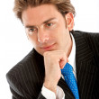 Thoughtful businessman - Stock Photo