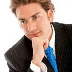 Thoughtful businessman — Stock Photo