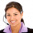 Stock Photo: Business customer support operator