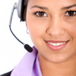 Woman with a headset - Stock Photo