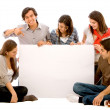 Stock Photo: Banner ad - happy friends