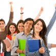 Stock Photo: Excited students