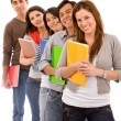 Students lined up — Stock Photo