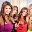 Girl friends at a party — Foto de Stock