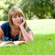Beautiful girl reading a book — Stock Photo #7701705