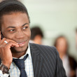 Stock Photo: businessman on the phone