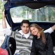 Couple in a car — Stock Photo #7701793