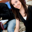 Beautiful college student — Stock Photo