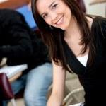Beautiful college student — Stock Photo