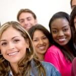 Multi-ethnic group of students — Stock Photo