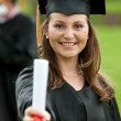 Female graduation portrait - Stock Photo