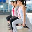 Gym group exercising — Stock Photo #7701914