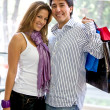 Happy couple shopping — Stock Photo #7701948