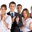 Business team clapping — Stock Photo #7702034