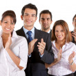 Foto Stock: Business team clapping