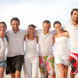 Happy friends at the beach — Stock Photo #7702134
