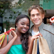 Stock Photo: Couple of shoppers