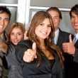 Business group - Thumbs up — Stock Photo