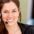 Business customer operator — Stock Photo
