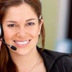 Business customer operator — Stock Photo