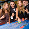 Casino gamblers — Stock Photo