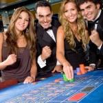 Casino gamblers — Stock Photo
