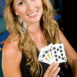Woman at the casino — Stock Photo