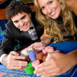 Casino couple - Stock Photo