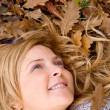 Dreamy autumn woman — Stock Photo #7703435
