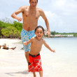 Man and son at vacations — Stock Photo