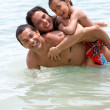 Family in the sea — Stock Photo #7703477