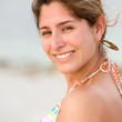 Stock Photo: Beach woman portait