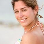 Beach woman portait — Stock Photo