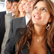 Business team looking up — Stock Photo #7703549